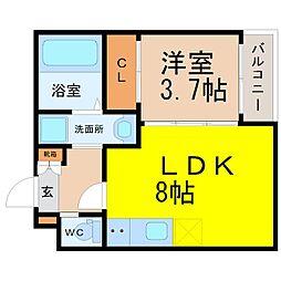 仮)旗屋二丁目SKHコーポ[3階]の間取り