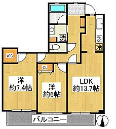 ルイシャトレ新横浜ガーデンスクウェア[2階]の間取り