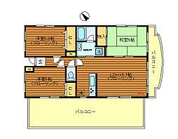 サンシャインK&Kマンション[4階]の間取り