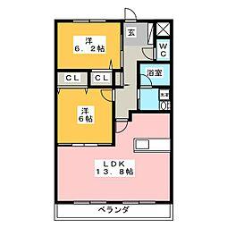 AZA才ノ免[2階]の間取り