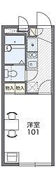 京阪本線 古川橋駅 徒歩15分の賃貸マンション 1階1Kの間取り