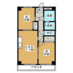 VILLA桜ヶ丘[2階]の間取り