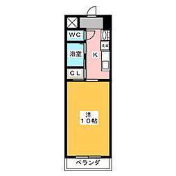 クレスト名駅西[4階]の間取り