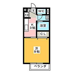エクセルハイムB[1階]の間取り