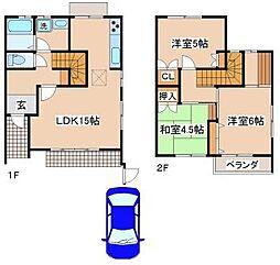 [一戸建] 兵庫県神戸市須磨区竜が台6丁目 の賃貸【/】の間取り