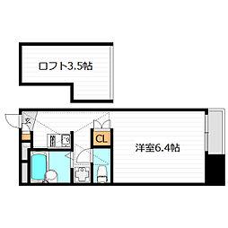 大阪府大阪市鶴見区鶴見2丁目の賃貸マンションの間取り