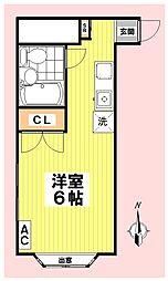 Eナカジマ[101号室]の間取り