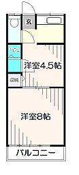 岡部荘[2階]の間取り