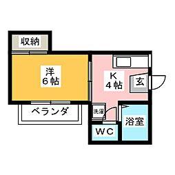 ハイツAYA[2階]の間取り