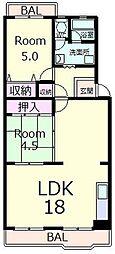 ブランドハウス近江八幡[1階]の間取り