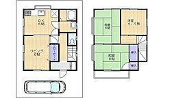 [一戸建] 神奈川県相模原市南区御園3丁目 の賃貸【/】の間取り
