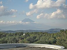 室内から富士山一望