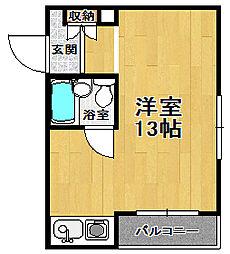 ベルトピア武庫之荘3[3階]の間取り