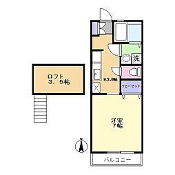 カーサヤマモト[2階]の間取り