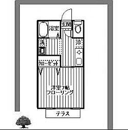 ファーストカンフォート中央林間[2階]の間取り