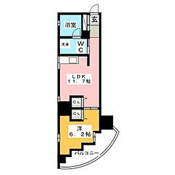 シャトー&ホテル名駅南1st[8階]の間取り