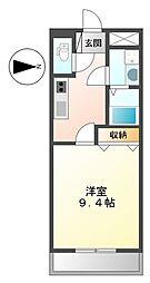 兵庫県姫路市別所町佐土2丁目の賃貸アパートの間取り