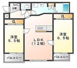 ウッドベルステージ[2階]の間取り