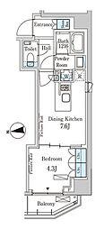 東京メトロ半蔵門線 半蔵門駅 徒歩6分の賃貸マンション 6階1DKの間取り