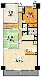 ライオンズマンション桃山南口[106号室]の間取り