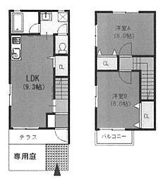 [テラスハウス] 大阪府堺市東区高松 の賃貸【/】の間取り