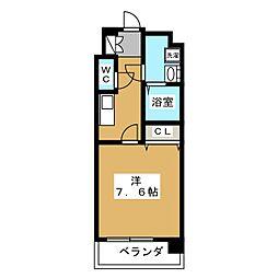 レジデンス京都ゲートシティ 2階1Kの間取り