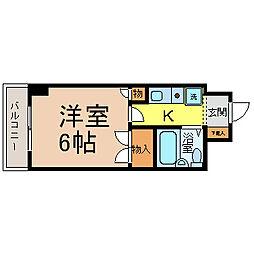 岩井橋ロイヤルハイツ[9階]の間取り