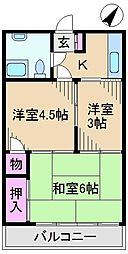 西ヶ原マンション[4階]の間取り