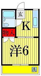 青山マンション[303号室]の間取り