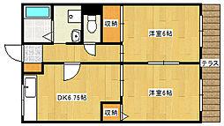 兵庫県神戸市垂水区星が丘3丁目の賃貸アパートの間取り