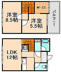 兵庫県伊丹市春日丘6丁目の賃貸アパートの間取り