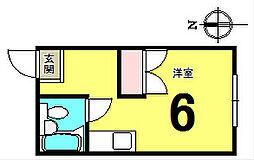 ハイツ海老沢1号館[201号室]の間取り