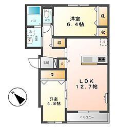 仮)川越町大字豊田新築アパート[1階]の間取り
