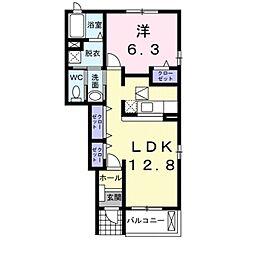 しなの鉄道 御代田駅 徒歩20分の賃貸アパート 1階1LDKの間取り