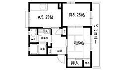 甲陽パンション A・B棟[A201号室]の間取り