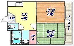 岩崎岩屋ビル[302号室]の間取り