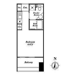 クレジデンス神谷町(旧:神谷町デュープレックスC's)[406号室]の間取り