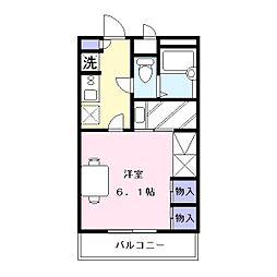 奈良県奈良市三条大路5丁目の賃貸アパートの間取り