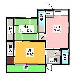 [一戸建] 岐阜県大垣市長沢町2丁目 の賃貸【/】の間取り