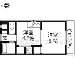 城戸ビル[2F号室]の間取り