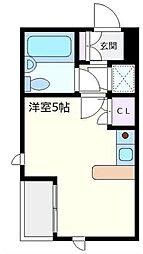 神奈川県横浜市青葉区青葉台2丁目の賃貸マンションの間取り