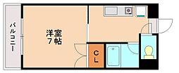 フラワーマンション清水[4階]の間取り