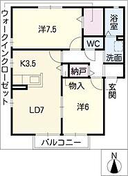 シプレ・モンターニュ B棟[2階]の間取り