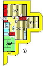 サバービア[1階]の間取り