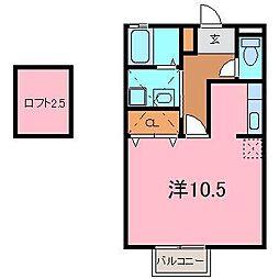 クレールN[2G号室]の間取り