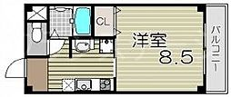 大阪府大阪市旭区清水2丁目の賃貸マンションの間取り