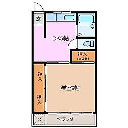 メゾンナカニシ[2階]の間取り