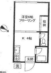 本郷ハウス[203号室]の間取り