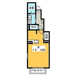 メルヴェイユ河島[1階]の間取り