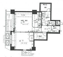 ニューライフ船場[13階]の間取り